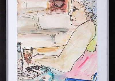 Donna al bar (Cortona)